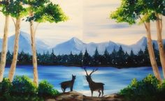 Deer Crossing. - Pinot's Palette Paint party