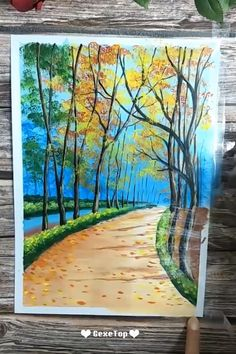 Decor Art 10 Awesome Acrylic Painting For Home Decor – Painting Tutorial Videos Acrylic Painting Tutorials, Painting Videos, Painting Techniques, Acrylic Pouring Art, Acrylic Art, Home Decor Paintings, House Painting, Landscape Paintings, Watercolor Paintings