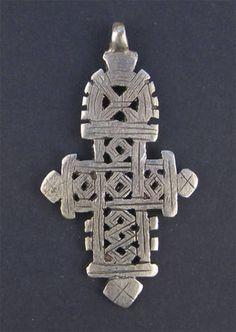 Traditional Cross Rusty Metal PendantCharm And Earrings 3-Piece Set