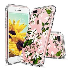 iPhone 7 Plus Case, iPhone 8 Plus Case Protective, MOSNOVO Floral Magnolia Flower Pattern Clear Design Transparent Case with TPU Bumper Protective Cover for iPhone 7 Plus / iPhone 8 Plus Iphone 7 Plus Cases, Cell Phone Cases, Iphone Se, Apple Iphone, Plastic Case, Cell Phone Accessories, Magnolia Flower, Samsung Galaxy