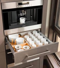 Best and stylish brilliant kitchen organization and storage ideas 17 – fugar Home Decor Kitchen, Interior Design Kitchen, New Kitchen, Home Kitchens, Kitchen Ideas, Kitchen Organisation, Kitchen Storage, Kitchen Cabinets, Kitchen Appliances