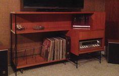 Kurrlson custom vintage audio unit with LP storage