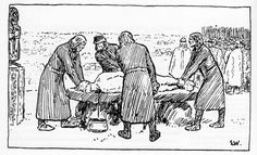The sacrifice of konung Domalde by Erik Werenskiold