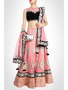 Pink Lehenga Crafted With Embroidery & Tilla Work