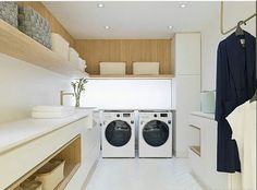 functional and stylish laundry room design ideas to inspire 27 Outdoor Laundry Rooms, Modern Laundry Rooms, Laundry Room Layouts, Laundry Room Organization, Laundry Room Design, Home Room Design, Living Room Designs, House Design, Laundry Room Inspiration