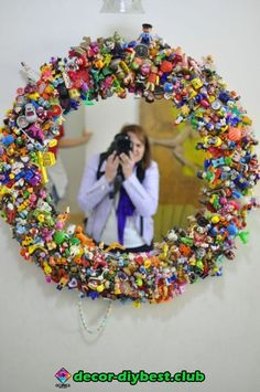 Gardens Discover Upcycle Toys DIY mirror of happiness - Upcycled Crafts Upcycled Crafts Diy Crafts Crafts For Kids Arts And Crafts Diy Mirror Huge Mirror Wall Mirror Mirror Ideas Mirror Game Upcycled Crafts, Diy And Crafts, Crafts For Kids, Arts And Crafts, Recycled Magazine Crafts, Glue Crafts, Bead Crafts, Upcycled Furniture, Furniture Projects