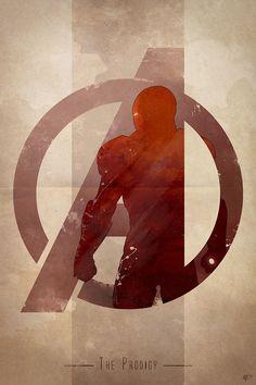 AVENGERS Character Logo Art