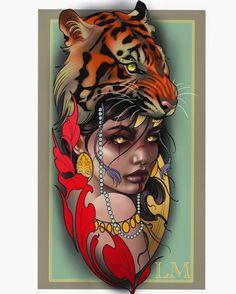 Neo Traditional Art, Traditional Tattoo Man, Desenho New School, Tatuagem New School, Girl Face Tattoo, Girl Face Drawing, African Warrior Tattoos, Egyptian Tattoo Sleeve, Neo Tattoo