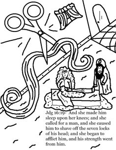 Samson and delilah further exploration suggestion for Licorice coloring page