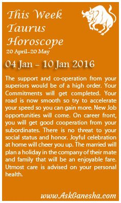 taurus weekly horoscope 10 january 2020