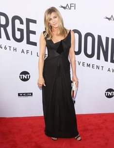 Jennifer Aniston& Gown Looks Like Any Other Black Dress — Until You Zoom in Close, That Is Jennifer Aniston Hair Color, Jennifer Aniston Photos, Hollywood, Christian Lacroix, Frocks, Selena, Gowns, Formal Dresses, Celebrities