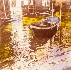 """canal off san marco (3) 22"""" x 20"""" micheal zarowsky / watercolour on arches paper (private collection)"""