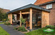Overkapping_Lienden_(10)[1] Modern Pergola, Pergola Patio, Pergola Kits, Backyard Patio, Gazebo, Outdoor Garden Rooms, Outdoor Gardens, Outdoor Living, House Extension Plans