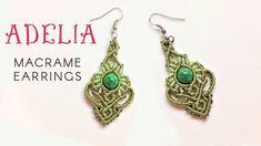 Macrame jewelry set tutorial - The Adelia earrings - Hướng dẫn thắt hoa ...