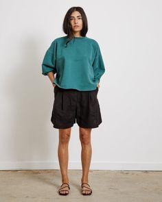 Rachel Comey, General Store, I Dress, Hemline, Crew Neck Sweatshirt, Vintage Inspired, Fitness Models, Product Launch, Menswear