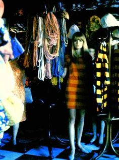 In the BIBA Empire store, all the clothes were hung on coat stands Biba Fashion, 60s And 70s Fashion, Mod Fashion, London Fashion, Vintage Fashion, Barbara Hulanicki, Swinging London, Carnaby Street, Look Cool