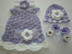 crochet newborn dress