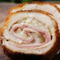 Crispy, Creamy Chicken Cordon Bleu Recipe by Tasty