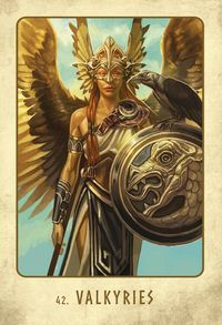 L'Oracle Viking cartes Oracle de Stacey Demarco et Jimmy Manton Norse Goddess, Norse Pagan, Norse Mythology, Runes Nordiques, Guerrero Tattoo, Mythology Costumes, Valkyrie Tattoo, Valkyrie Norse, Dnd Druid