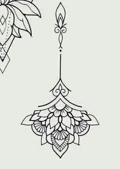 300 Sexy Tattoo Designs - Original by Tattooists Mini Tattoos, Flower Tattoos, Small Tattoos, Paisley Tattoos, Rose Tattoos, Tattoo Femeninos, Unalome Tattoo, Art Deco Tattoo, Mandala Tattoo Design