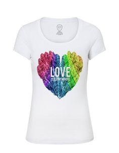 2969defac77 Womens T-shirt / Feather shirt / Womens Heart tshirt / Womens love shirt /  Ladies Cool tshirt / Ladi