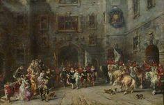 Eugène Isabey - Louis XIII au château de Blois  (1874) Louis Xiv, Saint Germain, Louvre, Painting, Art, Watercolor Artists, Art Background, Painting Art, Kunst