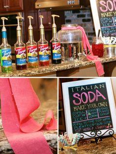 DIY Italian Soda Bar, appearing like a Tuscan Holiday Festivity #italiansodas #tuscan
