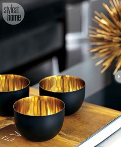 Gold is a dramatic and on-trend accent colour to use in your home. {Photography by Virginia Macdonald}