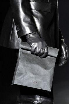 Jill Sander, leather lunch bag
