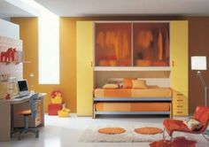 Boys room and storage idea