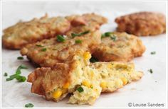 South-Africa - Sweetcorn Fritters -   Sweetcorn fritters are delicious as a side dish or a snack, and a firm favourite among both kids and adults