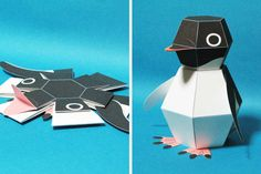 Here is thePenguin Bomb, an amazing origami animal that assemblesitself when droppedon the ground! An amusing creation using the technique of Kamikara, im
