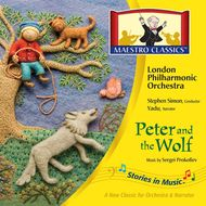 Peter and the Wolf CD recorded by Maestro Classics.  Gorgeous Children's Music by the London Philharmonic Orchestra