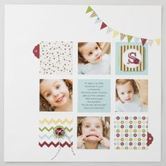 stampin up Scrapbook idea. love the white space, the patterned paper and the initial in the corner. So nice and clean. Baby Scrapbook, Scrapbook Paper Crafts, Scrapbook Albums, Scrapbook Supplies, Scrapbook Cards, Cute Scrapbooks, Scrapbooking Freebies, Scrapbook Sketches, Stampin Up