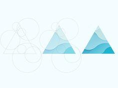 Triangle                                                                                                                                                     Más Logo Branding, Typography Logo, Graphic Design Typography, Branding Design, Logos, Water Branding, Wayne Dyer, Water Logo, Triangle Logo