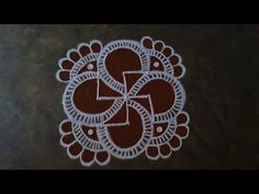 Rangoli With Dots, Simple Rangoli, Muggulu Dots, Gond Painting, Free Hand Rangoli, Padi Kolam, Special Rangoli, Rangoli Designs, Simple Designs