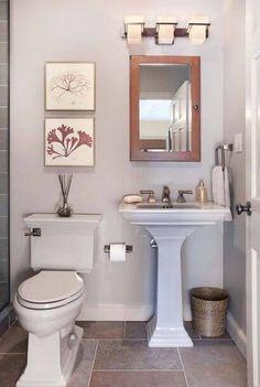 Apartment bathroom decor apartment small bathroom decor ideas apartment bathroom designs for good small apartment bathroom Powder Room Small, Half Bathroom Decor, Small Bathroom Decor, Bathroom Decor Apartment, Apartment Bathroom Design, Bathroom Design Small, Small Half Bathrooms, Simple Bathroom, Small Remodel
