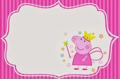 Free Peppa Pig Fairy Party Invitations.