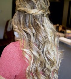 Curly hair with twist