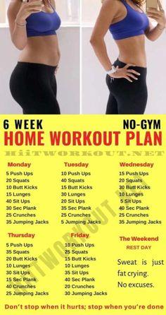 6 Week Workout Plan, Weekly Workout Plans, Weight Loss Workout Plan, At Home Workout Plan, Month Workout, Workout Challenge, Weight Training, Weekly Workouts, Circuit Training