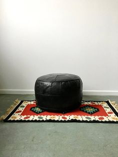 Pouf Leder Pouf Marokko Sitzkissen Boho Sitzsack Hocker Ottoman, Mid Century, Boho, Vintage, Interior, Design, Furniture, Etsy, Home Decor