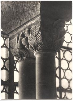 'Wartburg columns, Germany', photo possibly by Walter Hege