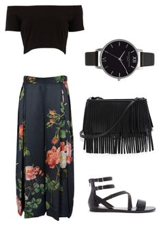 Fun Summer Floral Palazzo Pants outfit by imahautemess on Polyvore