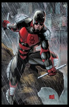 Armored Daredevil Colored by hanzozuken.deviantart.com on @deviantART