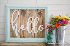 This custom made hello cutout will come UNFINISHED and ready for you to decorate however you want, glitter, decoupage, paint, etc. These signs are