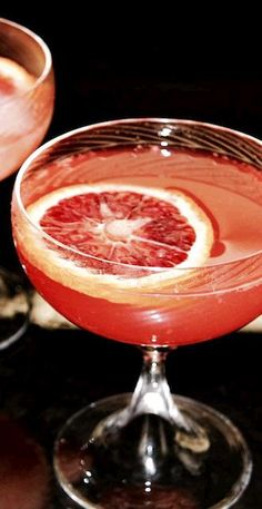 Sicilian 75   Blood orange makes this cocktail delicious and a beautiful hue.