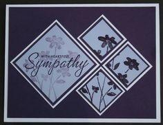 sympathy card...(elegant eggplant, almost amethyst and white)