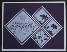 sympathy card...(elegant eggplant, almost amethyst and white)