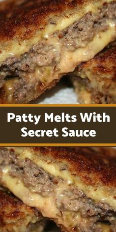 Patty Melts With Secret Sauce Beef Dishes, Food Dishes, Patty Melt Recipe, Onion Burger, Burger Recipes, Hamburger Meat Recipes, Pasta, Soup And Sandwich, Ground Beef Recipes