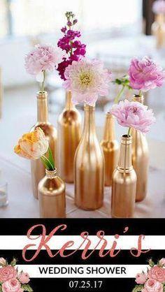 Best Wedding Reception Decoration Supplies - My Savvy Wedding Decor Gold Wedding Decorations, Wedding Vases, Bridal Shower Decorations, Wedding Favors, Wedding Flowers, Wedding Ideas, Trendy Wedding, Table Decorations, Wedding Simple